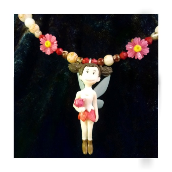 Handmade in the USA Jewelry - Fairy necklace Garden fairy pendant
